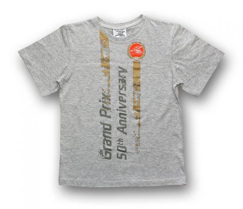 Tričko 50. výročí šedé dětské - Automotodrom Brno 9ce4136b0a